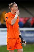 Southend United goalkeeper, Nathan Bishop, walks off the pitch at the final whistle during Dover Athletic vs Southend United, Emirates FA Cup Football at the Crabble Athletic Ground on 10th November 2019