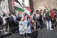 Roma 14 Maggio 2011.Manifestazione nazionale contro l'assedio a Gaza, per la libertà della Palestina, in sostegno alla Freedom Flotilla