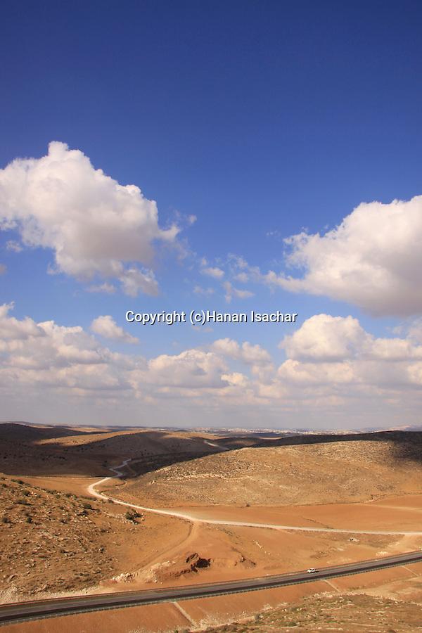 Israel, Shephelah, a view of Road 358 from Tel Beit Mirsim