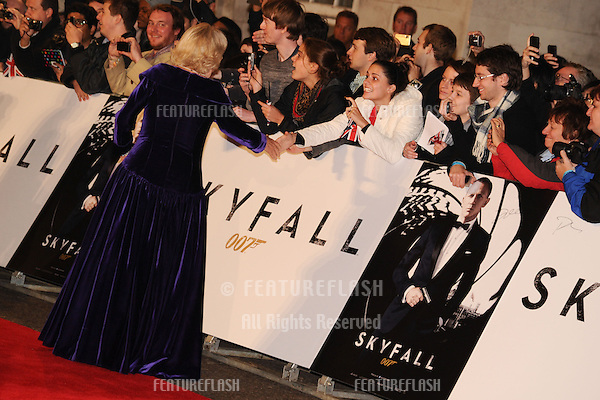 Camilla, Duchess of Corwall arriving for the Royal World Premiere of 'Skyfall' at Royal Albert Hall, London. 23/10/2012 Picture by: Steve Vas / Featureflash