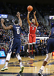 UNLV's Jerome Seagears shoots over Nevada defender Caneron Oliver during a men's college basketball game in Reno, Nev., on Saturday, Jan. 23, 2016. Cathleen Allison/Las Vegas Review-Journal