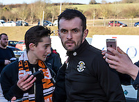 Nathan Jones manager of Luton Town arrives prior to the Sky Bet League 2 match between Wycombe Wanderers and Luton Town at Adams Park, High Wycombe, England on the 21st January 2017. Photo by Liam McAvoy.