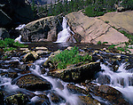 waterfalls, Glacier Creek, Rocky Mountain National Park, Colorado, USA