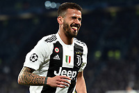 Leonardo Spinazzola of Juventus reacts during the Uefa Champions League 2018/2019 round of 16 second leg football match between Juventus and Atletico Madrid at Juventus stadium, Turin, March, 12, 2019 <br />  Foto Andrea Staccioli / Insidefoto