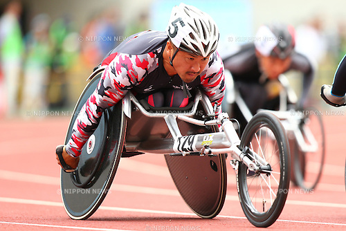 Masazumi Soejima,<br /> JULY 18, 2015 - Athletics :<br /> Japan Para Athletics Championships,<br /> Men's T54 800m Qualification<br /> at Yanmar Stadium Nagai, Osaka, Japan. <br /> (Photo by Shingo Ito/AFLO SPORT)