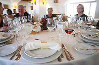 restaurant table group of people enjoying a meal herdade do esporao alentejo portugal