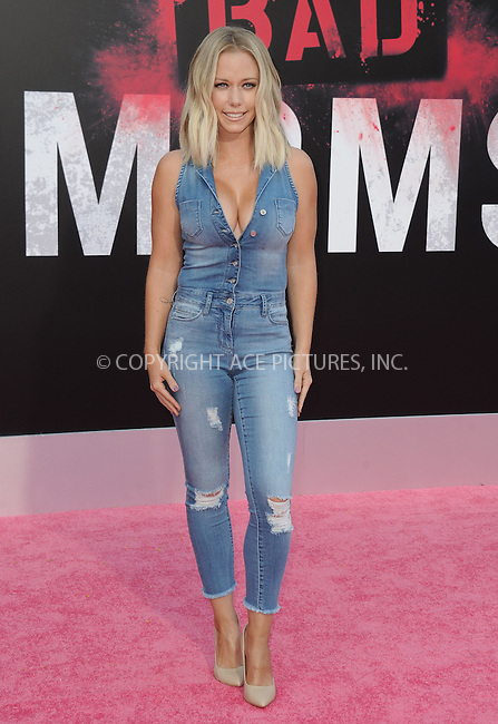www.acepixs.com<br /> <br /> July 26 2016, LA<br /> <br /> Kendra Wilkinson arriving at the premiere of 'Bad Moms' at the Mann Village Theatre on July 26, 2016 in Westwood, California.<br /> <br /> By Line: Peter West/ACE Pictures<br /> <br /> <br /> ACE Pictures Inc<br /> Tel: 6467670430<br /> Email: info@acepixs.com<br /> www.acepixs.com