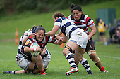 Counties Manukau Heat vs Auckland Storm Womens Farah Palmer Cup Final rugby game played at ECOLight Stadium on Sunday October 3rd 2016. The Counties Manukau Heat won the game and the Farah Palmer Cup for the first time, 41 - 22 after leading 26 - 10 at halftime.<br /> Photo by Richard Spranger