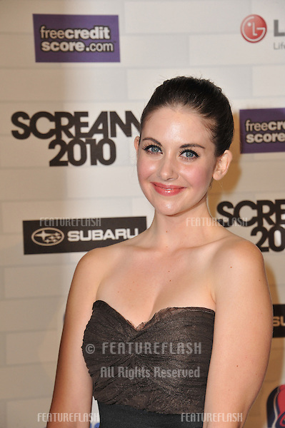 Alison Brie at Spike TV's 2010 Scream Awards at the Greek Theatre, Griffith Park, Los Angeles..October 16, 2010  Los Angeles, CA.Picture: Paul Smith / Featureflash