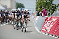 Thomas De Gendt (BEL/OmegaPharma-Quickstep) leading his teammates in the first half of the 250km race<br /> <br /> Belgian Championships 2014 - Wielsbeke<br /> Elite Men