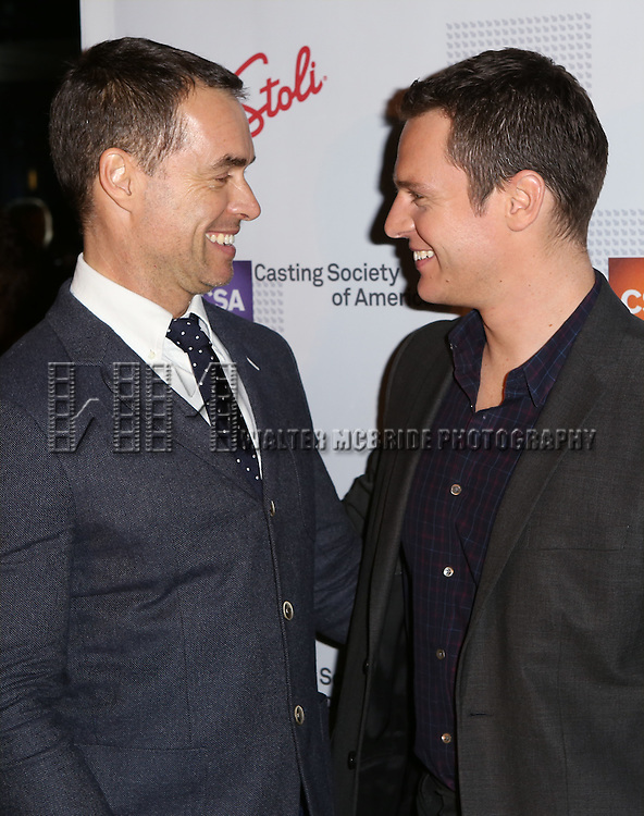 Murray Bartlett and Jonathan Groff attends the 30th Annual Artios Awards at 42 WEST on January 22, 2015 in New York City.