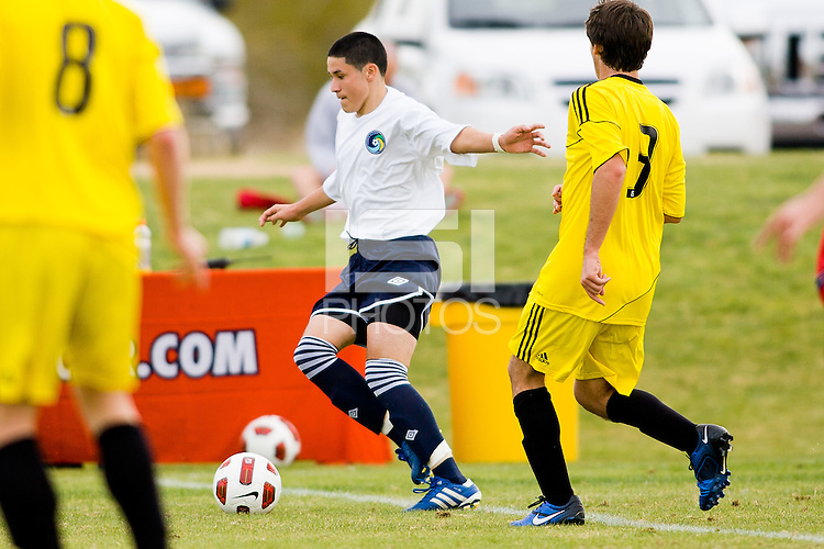 2010 US Soccer Development Academy Winter Showcase U15/16 Cosmos Academy East vs Crew Soccer Academy at Reach 11 Soccer Complex in Phoenix, Arizona in December of  2010.