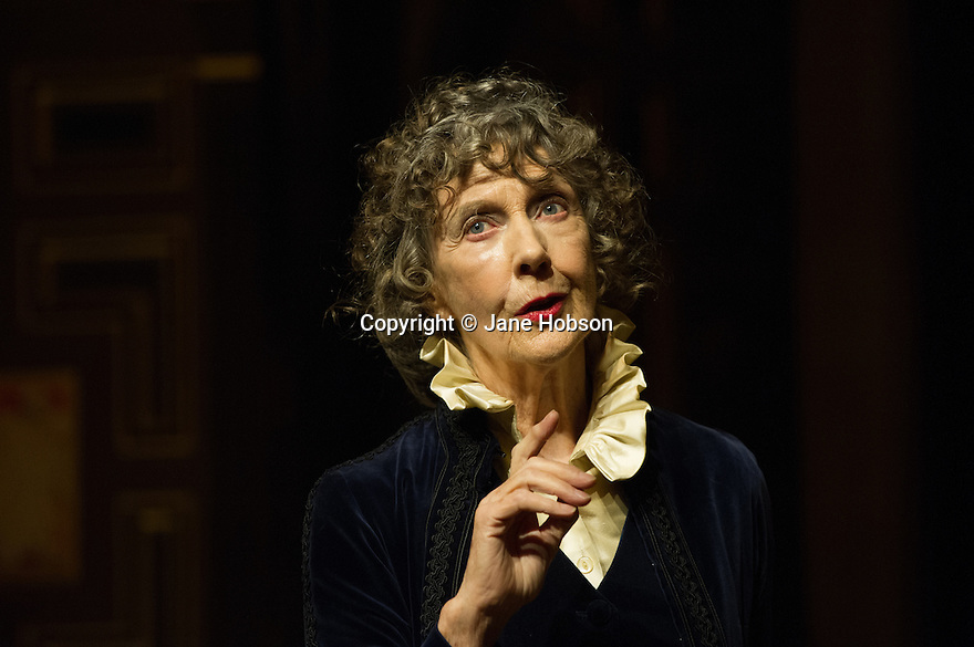 London, UK. 20.01.2014.  Dame Eileen Atkins offers the first performance of Shakespeare in the new Sam Wanamaker Playhouse, exploring and portraying some of Shakespeare's greatest female characters, as told by Ellen Terry, in ELLEN TERRY WITH EILEEN ATKINS. The production was first performed at the Chichester Festival Theatre in August 2012. Photograph © Jane Hobson.