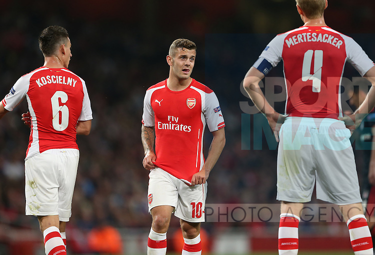 Arsenal's Jack Wilshere looks on <br /> <br /> - UEFA Champions League, Play-off Second Leg  - Emirates Stadium - England - 27th August 2014 - Picture David Klein/Sportimage