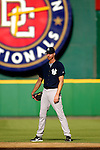 16 June 2006: Randy Johnson, pitcher for the New York Yankees, stands in the outfield prior to a game against the Washington Nationals at RFK Stadium, in Washington, DC. The Yankees defeated the Nationals 7-5 in the first meeting of the two franchises...Mandatory Photo Credit: Ed Wolfstein Photo...