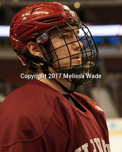 Ty Pelton-Byce (Harvard - 11) - The Harvard University Crimson practiced at the United Center on Wednesday, April 5, 2017, in Chicago, Illinois.