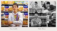 IL VERO E IL FALSO:.Ritratti di veri soci Coop e degli attori che interpretano la sit-Com Casa Coop.Matteo Petrini