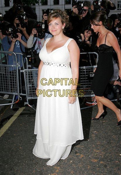CHARLOTTE CHURCH.Arrivals at the 4th Aunnual Glamour Women Of The Year Awards, Berkely Square Gardens, London, England, .June 5th 2007..full length long white dress maxi gown pregnant.CAP/AH.©Adam Houghton/Capital Pictures.