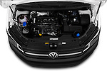 Car stock 2019 Volkswagen Caddy Van Base 4 Door Car van engine high angle detail view