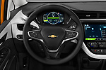 Car pictures of steering wheel view of a 2018 Chevrolet Bolt-EV LT 5 Door Hatchback Steering Wheel