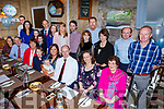 The christening of baby Brian Dillon from Killeen Woods, Tralee in the Croi Restuarant on Saturday.  <br /> Seated front middle, Joe, baby Brian and Martina Dillon.