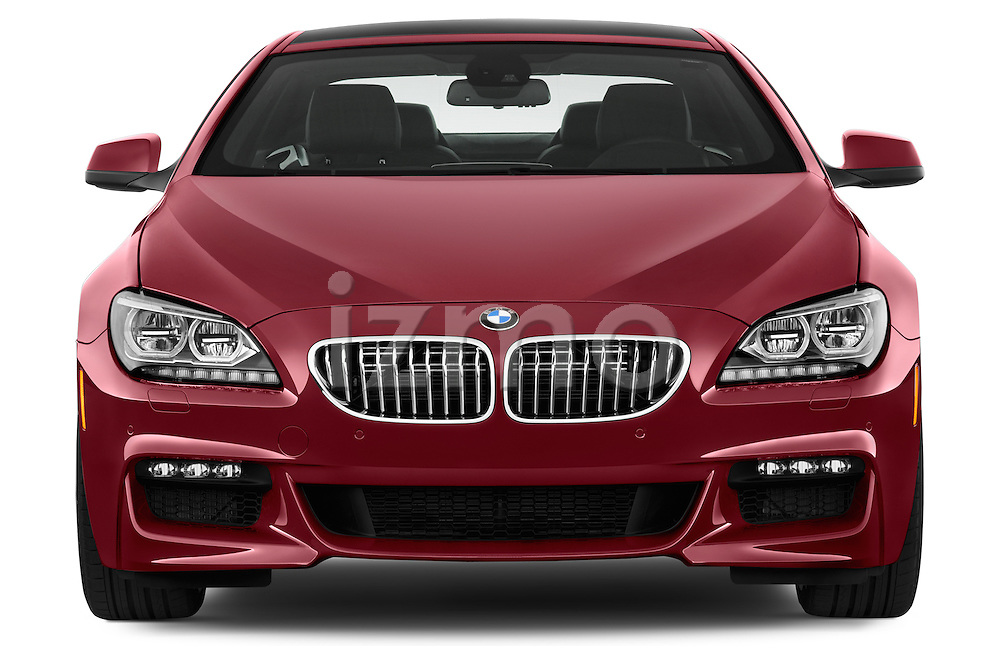 Straight front view of a 2014 BMW 6 Series Coupe