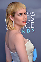 Emma Roberts at the 23rd Annual Critics' Choice Awards at Barker Hangar, Santa Monica, USA 11 Jan. 2018<br /> Picture: Paul Smith/Featureflash/SilverHub 0208 004 5359 sales@silverhubmedia.com