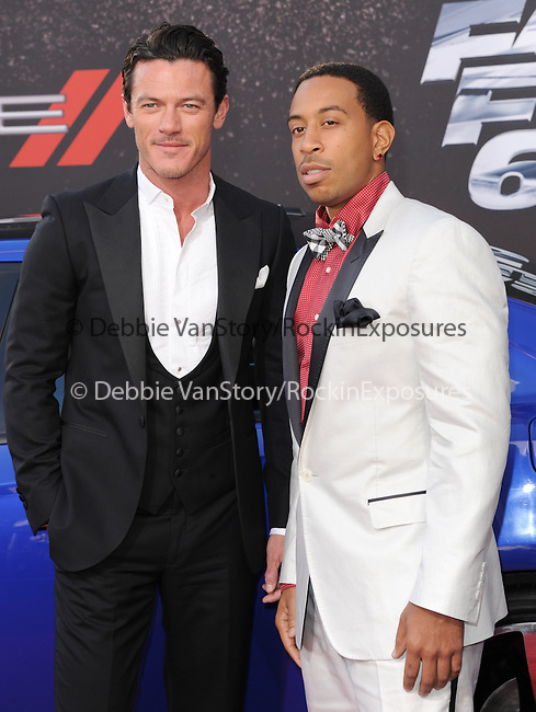 Chris Ludacris Bridges and Luke Evans at The Universal Pictures American Premiere of Fast & Furious 6 held at Universal CityWalk in Universal City, California on May 21,2013                                                                   Copyright 2013 Hollywood Press Agency