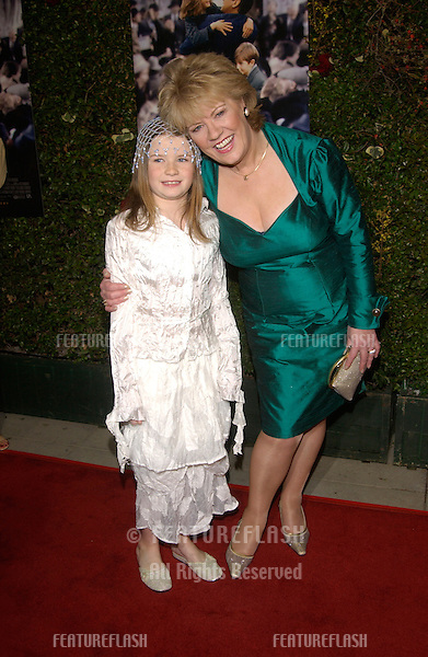 EVELYN DOYLE (right) with actress SOPHIE VAVASSEUR at the Los Angeles premiere of Evelyn. Sophie plays Evelyn in the movie..03DEC2002.  © Paul Smith / Featureflash