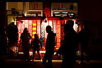 General View of a scarf seller's stall<br /> <br /> Photographer Richard Martin-Roberts/CameraSport<br /> <br /> UEFA Champions League Group C - Liverpool v Crvena Zvezda - Wednesday 24th October 2018 - Anfield - Liverpool<br />  <br /> World Copyright © 2018 CameraSport. All rights reserved. 43 Linden Ave. Countesthorpe. Leicester. England. LE8 5PG - Tel: +44 (0) 116 277 4147 - admin@camerasport.com - www.camerasport.com
