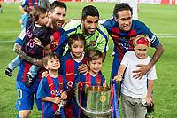 FC Barcelona's forward Leo Messi, forward Luis Suarez and forward Neymar Santos Jr during Copa del Rey (King's Cup) Final between Deportivo Alaves and FC Barcelona at Vicente Calderon Stadium in Madrid, May 27, 2017. Spain.<br /> (ALTERPHOTOS/BorjaB.Hojas) /NortePhoto.com