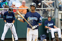 July 22, 2007: Infielder Ogui Diaz of the Everett AquaSox gets ready to step into the batter's box during a Northwest League game at Everett Memorial Stadium in Everett, Washington.