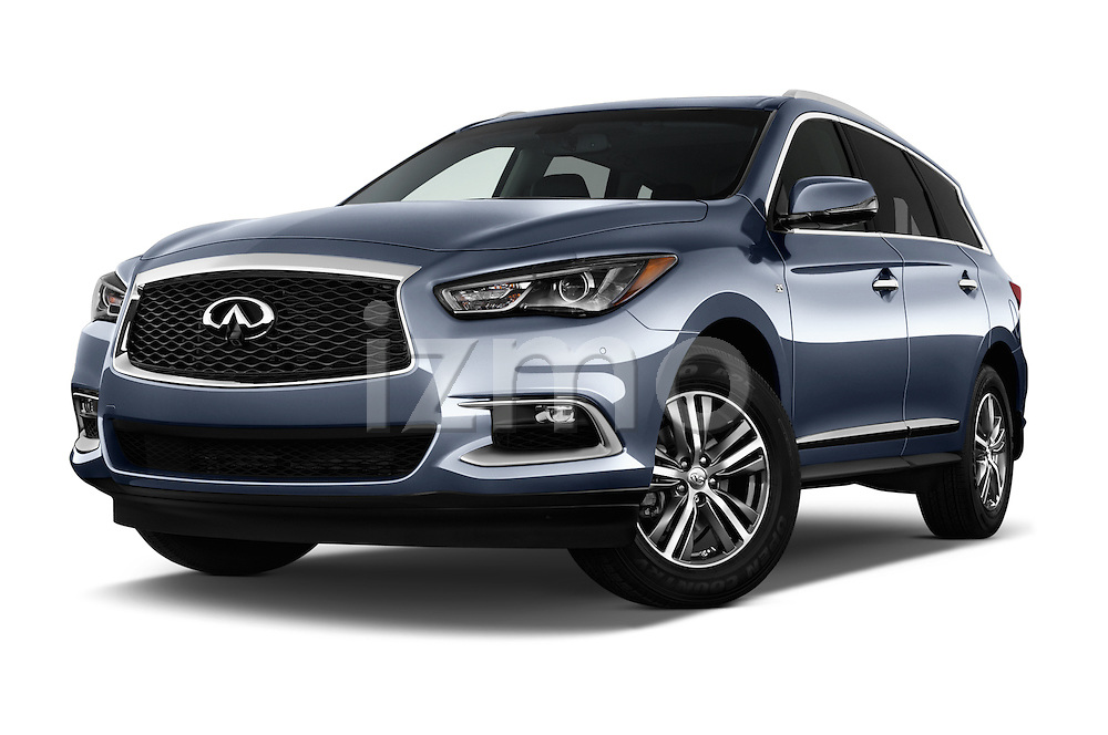Stock pictures of low aggressive front three quarter view of 2016 Infiniti QX60 - 5 Door Suv Low Aggressive