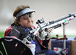 Paralympics London 2012 - ParalympicsGB - Shooting Womens R2-10m Air Rifle Standing - SH1 Heats 30th August 2012.  .Deanna Coates competing in the Womens R2-10m Air Rifle Standing - SH1 Heats at the Paralympic Games in London. Photo: Richard Washbrooke/ParalympicsGB