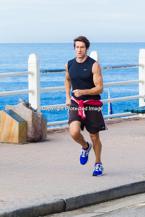 Jonathan Lapaglia Running at Bondi Beach