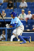 Daytona Cubs outfielder Oliver Zapata (1) during a game against the Dunedin Blue Jays on April 14, 2014 at Florida Auto Exchange Stadium in Dunedin, Florida.  Dunedin defeated Daytona 1-0  (Mike Janes/Four Seam Images)
