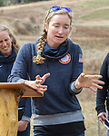 EAST MONTPELIER - USA Vermont Olympians speak at Morse Farm about the influence of climate change on winter sports they have experienced world wide and make suggestions on attacking the problem. Speaking, Hannah Dreissigacker.