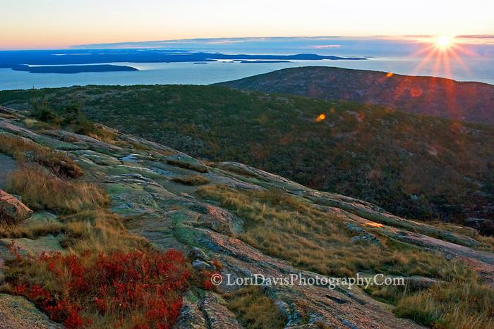Autumn Sunrise from Cadillac Summit  #A50