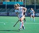 AMSTELVEEN - Freeke Moes (OR)   tijdens de hoofdklasse competitiewedstrijd hockey dames,  Amsterdam-Oranje Rood (5-2). COPYRIGHT KOEN SUYK