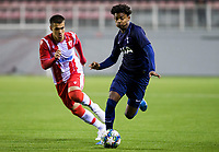 6th November 2019; Vozdovac Stadium, Belgrade, Serbia; UEFA Under 19 UEFA Youth league football, FK Crvena Zvezda under 19s versus Tottenham Hotspur under 19s; J'Nell Bennett of Tottenham Hotspurs FC comes forward on the ball