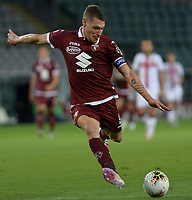 16th July 2020; Olympic Grande Torino Stadium, Turin, Piedmont, Italy; Serie A Football, Torino versus Genoa; Andrea Belotti of Torino scores the goal for 3-0 for Torino in the 90th minute