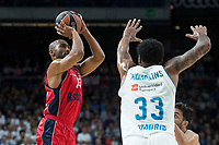 Real Madrid Trey Thompkins and Baskonia Vitoria Jayson Granger during Turkish Airlines Euroleague match between Real Madrid and Baskonia Vitoria at Wizink Center in Madrid, Spain. January 17, 2018. (ALTERPHOTOS/Borja B.Hojas) (NortePhoto.com NORTEPHOTOMEXICO)