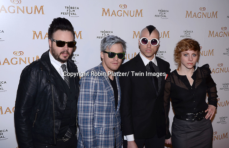 Neon Trees attending The premiere of the Magnum Ice Cream Film Series during the Tribeca Film Festival on April 21, 2011 at The IAC Building in New York City.