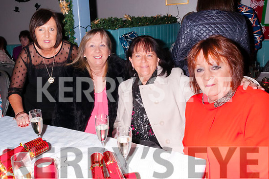 Women's Christmas: Ladies from Tralee celebrating Women's Christmas at Parker's Bar, Kilflynn on Friday night last. L-R: Noreen Murphy, Slani Lonergan, Gretta McCannon & Mary O'Sullivan.