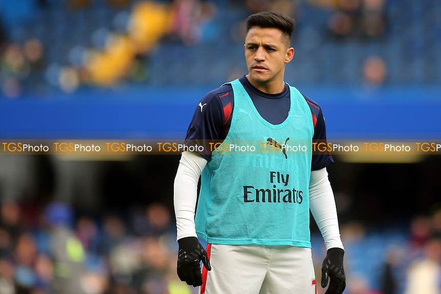 Alexis Sanchez of Arsenal pre-match during Chelsea vs Arsenal, Premier League Football at Stamford Bridge on 4th February 2017