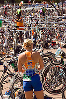 Triathlon bike transition area