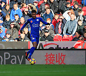 4th November 2017, bet365 Stadium, Stoke-on-Trent, England; EPL Premier League football, Stoke City versus Leicester City; Demarai Gray of Leicester City moves the ball down the wing