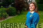 Charlotte O'Halloran from Derrylea who was awarded the Ceist, Gradham Gaeilge, Maths, Comunitty and Music awards  from Mercy Mounthawk.