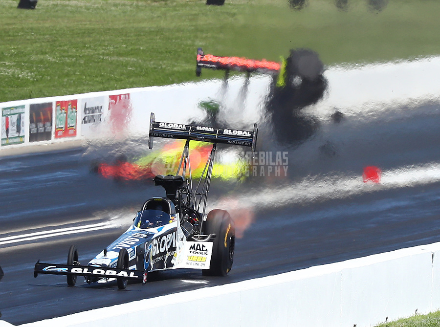 May 21, 2017; Topeka, KS, USA; NHRA top fuel driver Shawn Langdon during the Heartland Nationals at Heartland Park Topeka. Mandatory Credit: Mark J. Rebilas-USA TODAY Sports