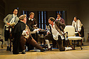 THE SCHOOL FOR SCANDAL opens the Theatre Royal Bath's summer season of new in-house productions, overseen by leading guest director, Jamie Lloyd. Picture shows: Greg Barnett (Careless), Ian McNiece (Sir Oliver Surface), Timothy Speyer (Moses), Nigel Harman (Charles Surface), Matthew Seadon-Young (Trip) and Grant Gillespie (Gentleman).